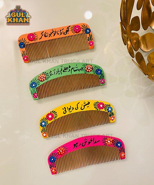 Handpainted Wooden Combs